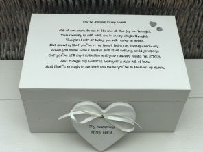 Personalised LARGE Memory Box ~ NANA GRAN ~ Any Name ~ Bereavement In Memory Of - 332574170727